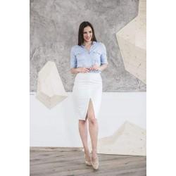 Instinct. Pieštuko formos baltas sijonas