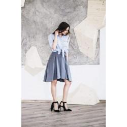 Instinct. Pilkos spalvos sijonas su kišenėmis