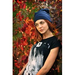 MAUFashion. Mėlynos spalvos kepurė