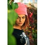 MAUFashion. Šviesiai rožinės spalvos kepurė